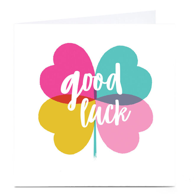 Personalised Hello Munki Good Luck Card - Clover