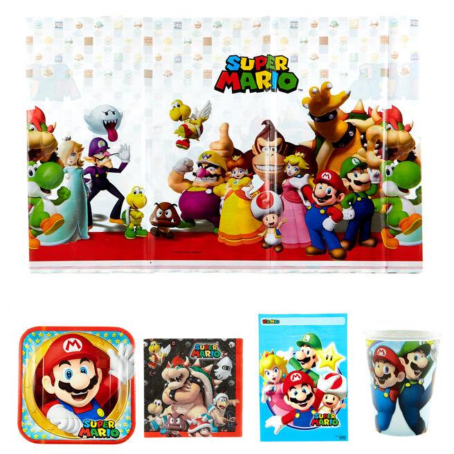 Super Mario Party Tableware & Decorations Bundle - 81 Pieces