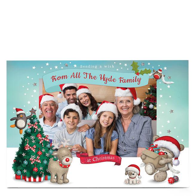 Hugs Photo Christmas Card - Bear, Dog And Reindeer
