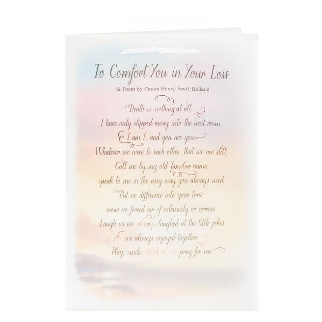 Sympathy Card - A Comforting Poem