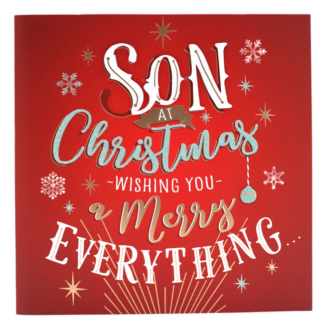 Exquisite Collection Christmas Card - Son Merry Everything