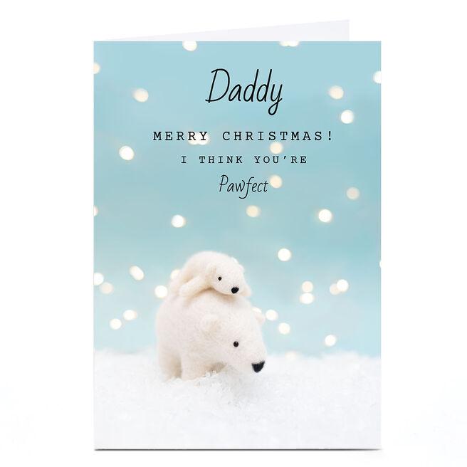 Personalised Lemon & Sugar Christmas Card - Polar Bear & Child