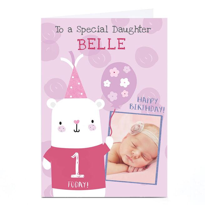Photo Juniper & Rose Birthday Card - Cute Bear