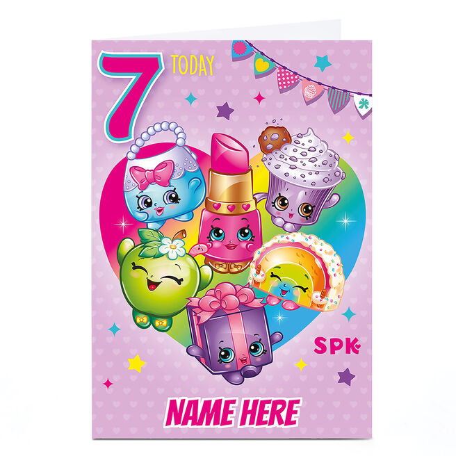 Personalised Shopkins Card - 7 Today