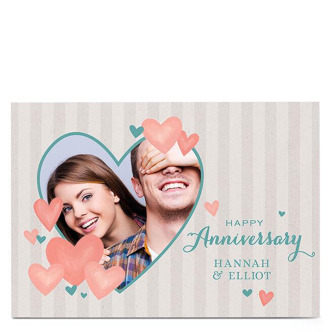 Photo Anniversary Card - Heart Frame
