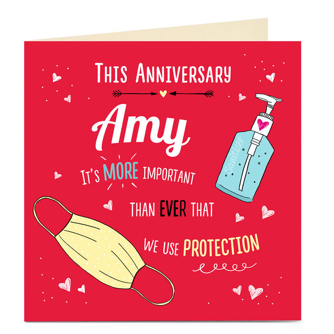 Personalised Anniversary Card - Use Protection