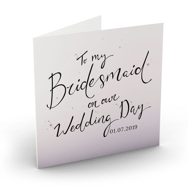 Personalised Wedding Card - My Bridesmaid