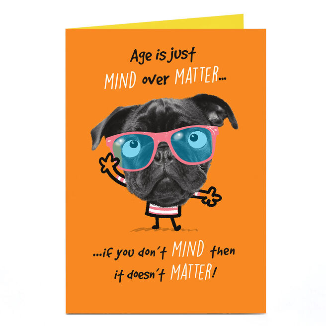 Personalised Pink Pet Shop Birthday Card - Mind Over Matter