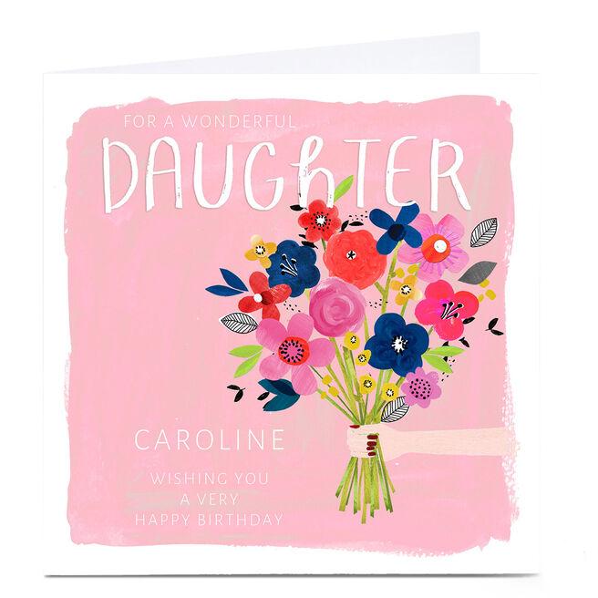 Personalised Kerry Spurling Birthday Card - Flowers, Daughter