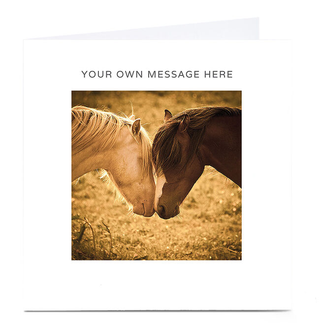 Personalised Card - Kissing Horses