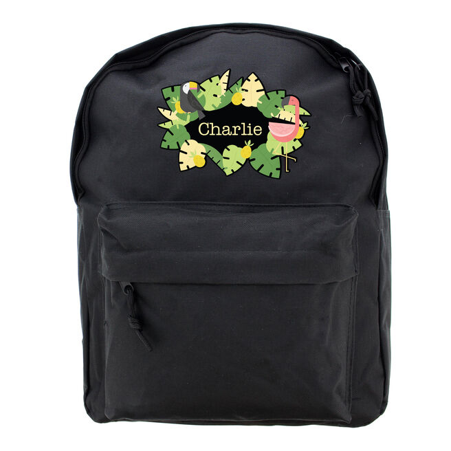 Personalised Backpack - Tropical Flamingo