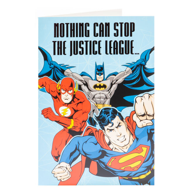 Justice League Birthday Card