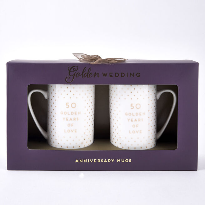 Golden Wedding 50th Anniversary Mugs