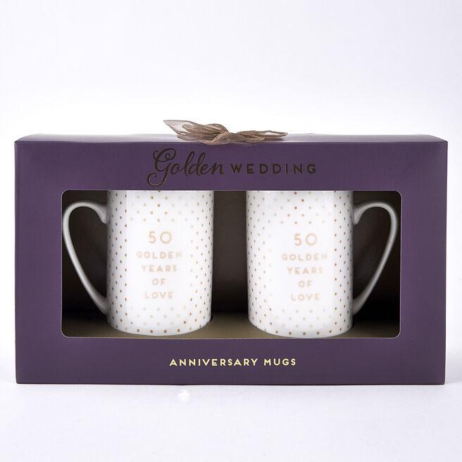 Golden Wedding 50th Anniversary Mugs
