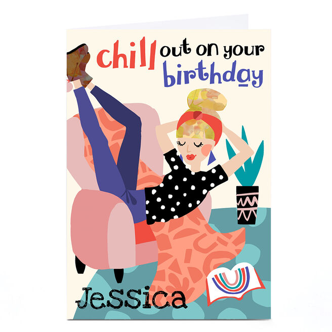 Personalised Bev Hopwood Birthday Card - Chill Out