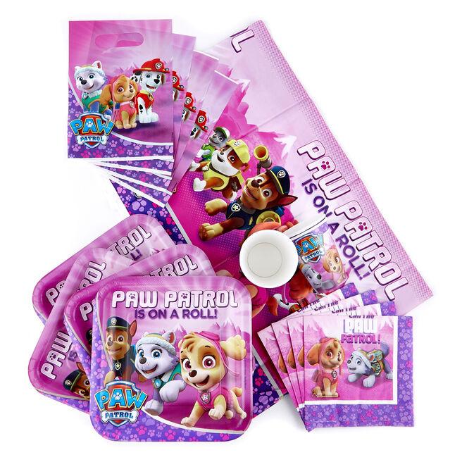 Pink Paw Patrol Party Tableware & Decorations Bundle - 81 Pieces