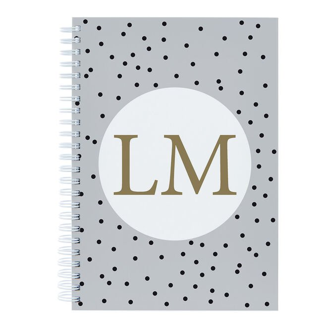 Personalised Notebook - Initials On Dots