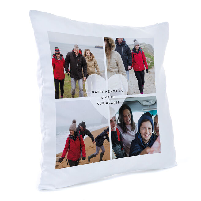 Personalised Photo Cushion - Happy Memories Live In Our Hearts