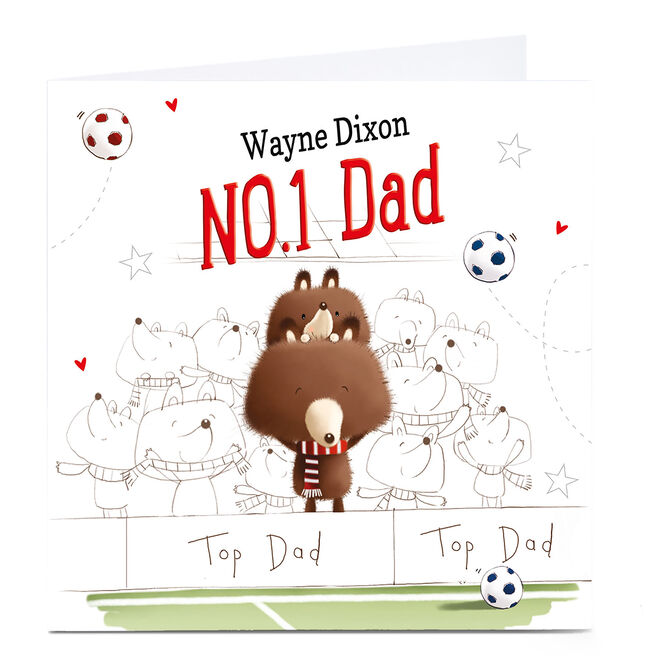 Personalised Father's Day Card - NO1 Football Dad