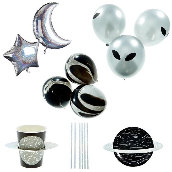Blast Off Party Tableware & Decorations Bundle - 53 Pieces