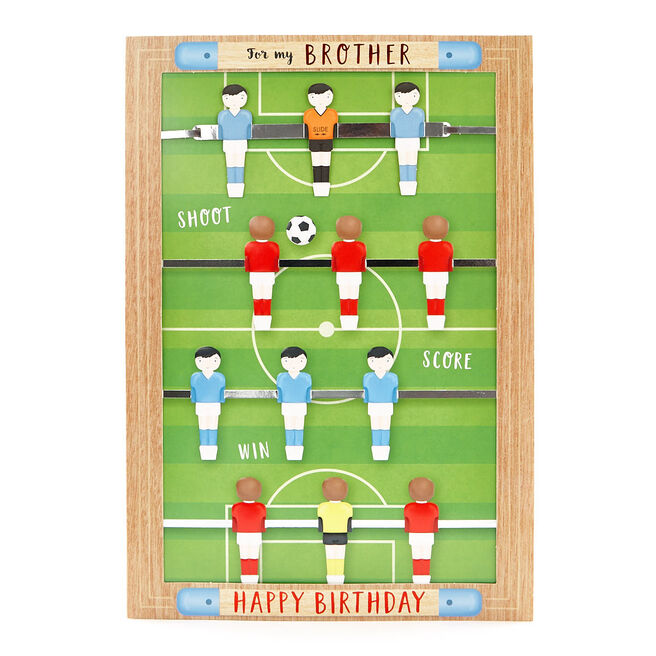 Signature Collection Birthday Card - Brother Table Football
