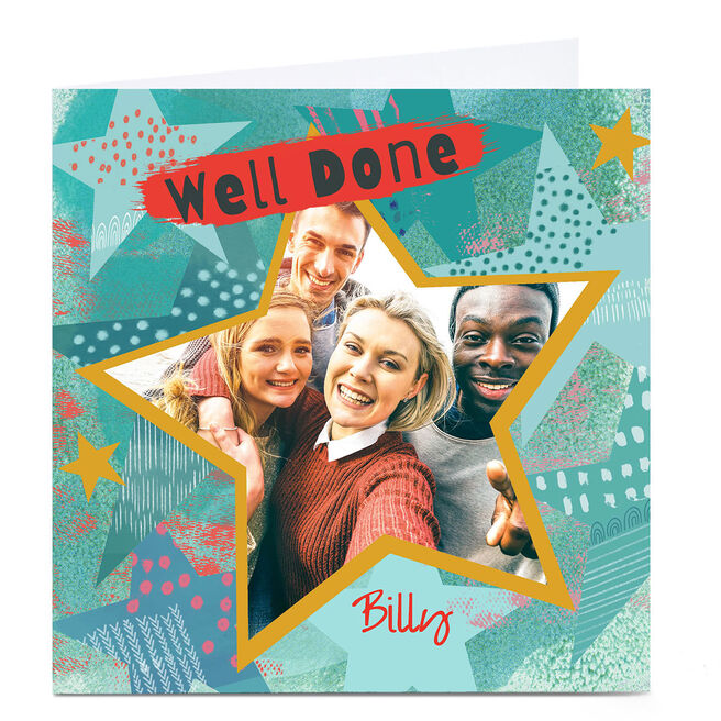 Personalised Emma Isaacs Photo Card - Well Done