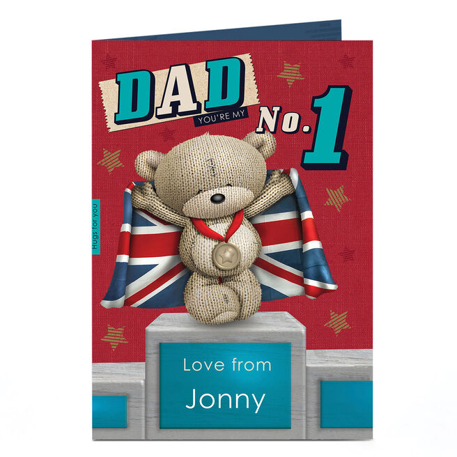 Hugs Personalised Card - Number 1 Dad