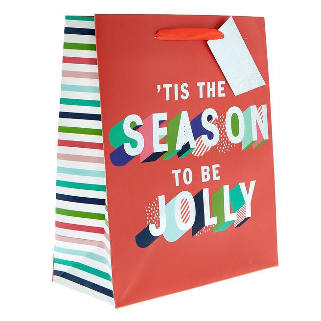 Small Portrait 'Tis The Season Christmas Gift Bag