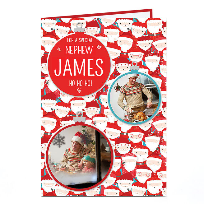 Photo Christmas Card - Santas & Baubles, For A Special ...