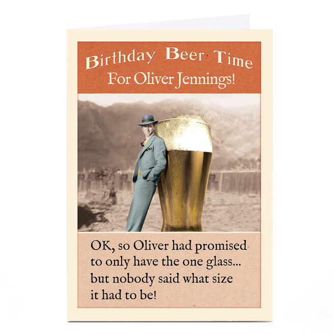 Personalised Madcap Manor Card - Birthday Beer Time