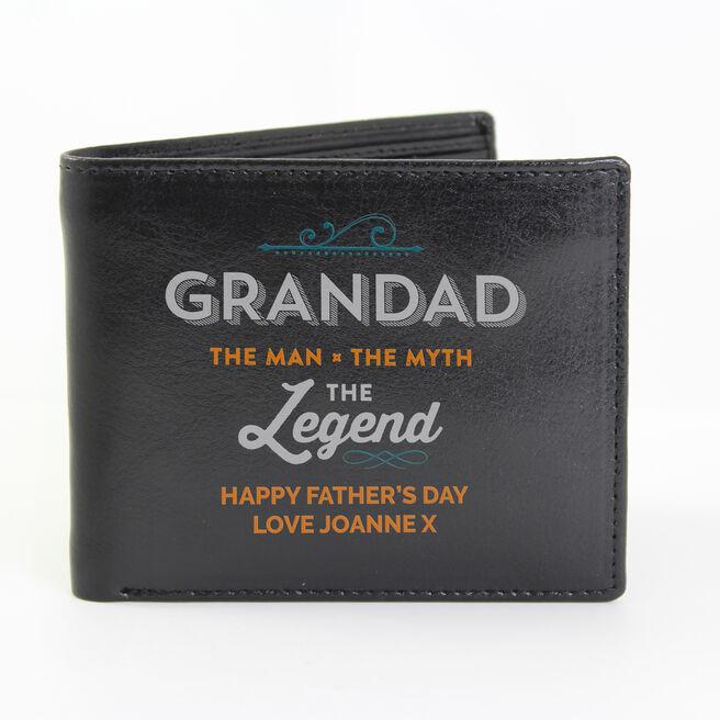 Personalised Wallet - Grandad The Legend
