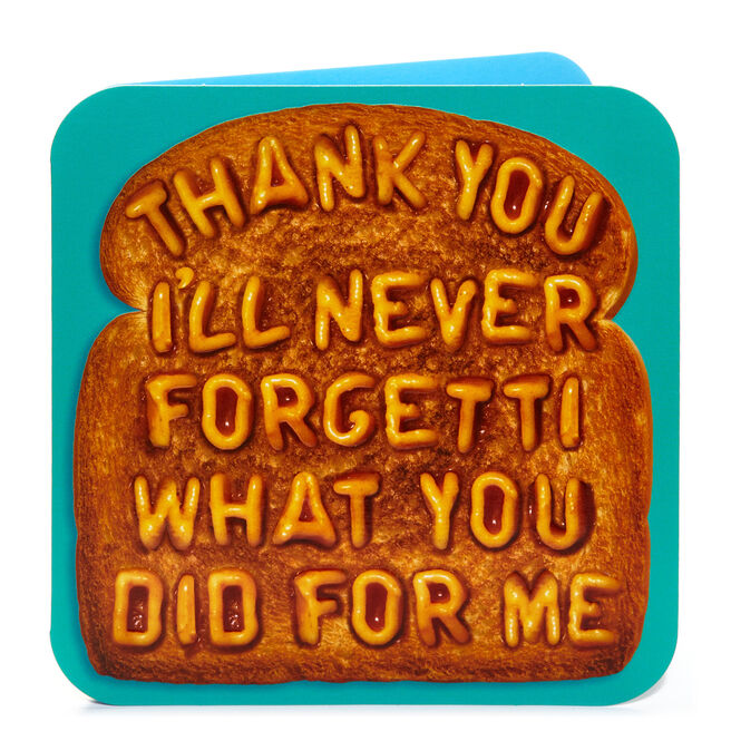 Thank You Card - Never Forgetti