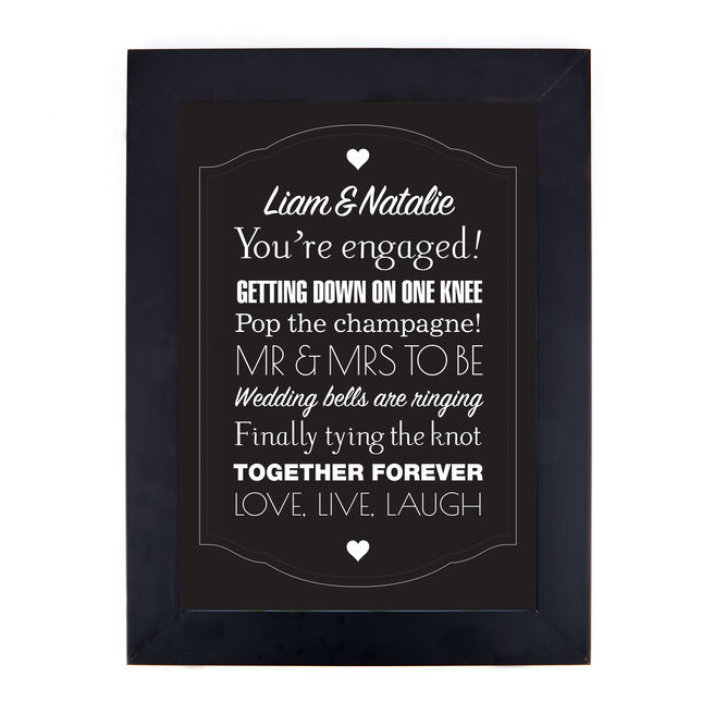 Personalised 'You're Engaged' Print
