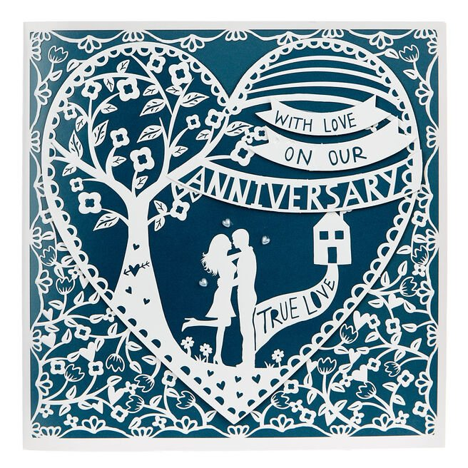Exquisite Collection Anniversary Card - With Love