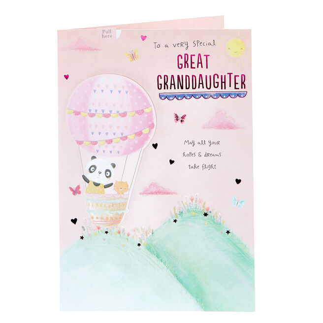 Birthday Card - Special Great Granddaughter