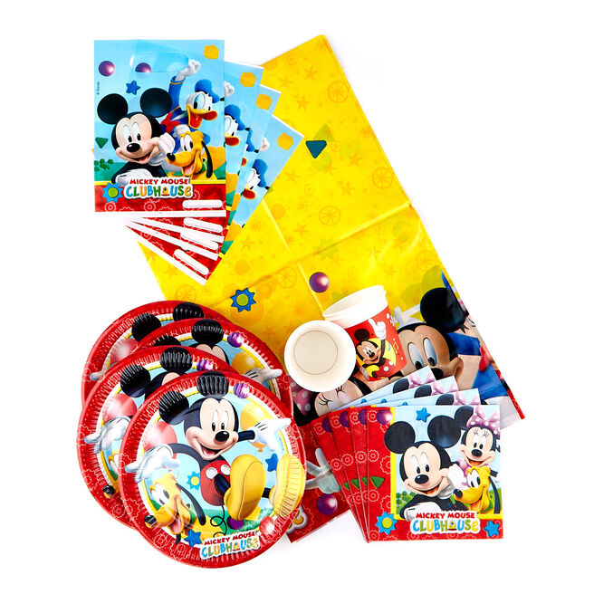 Mickey Mouse Clubhouse Party Tableware Bundle - 91 Pieces