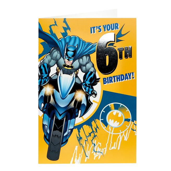 Batman 6th Birthday Card