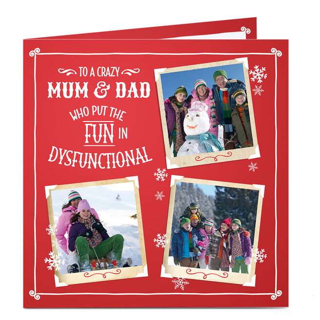 Multi Photo Christmas Card - The 'Fun' In Dysfunctional