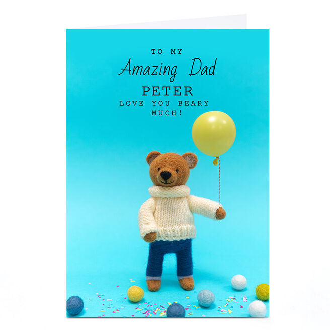 Personalised Lemon and Sugar Card - Bear & Balloon