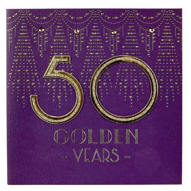 Boutique Collection 50th Anniversary Card - Golden Years