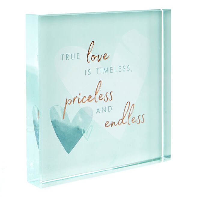 Perfect Together Glass Keepsake - Happy Anniversary