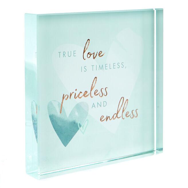 Perfect Together Glass Keepsake - Happy Anniversary
