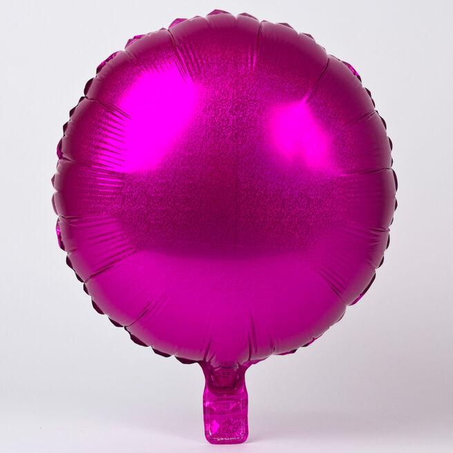 Pink Round Foil Helium Balloon