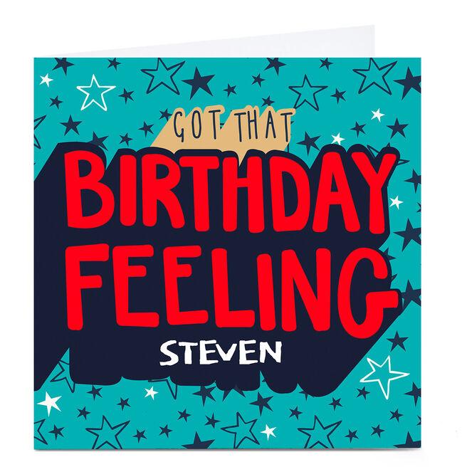 Personalised Bev Hopwood Birthday Card - That Birthday Feeling