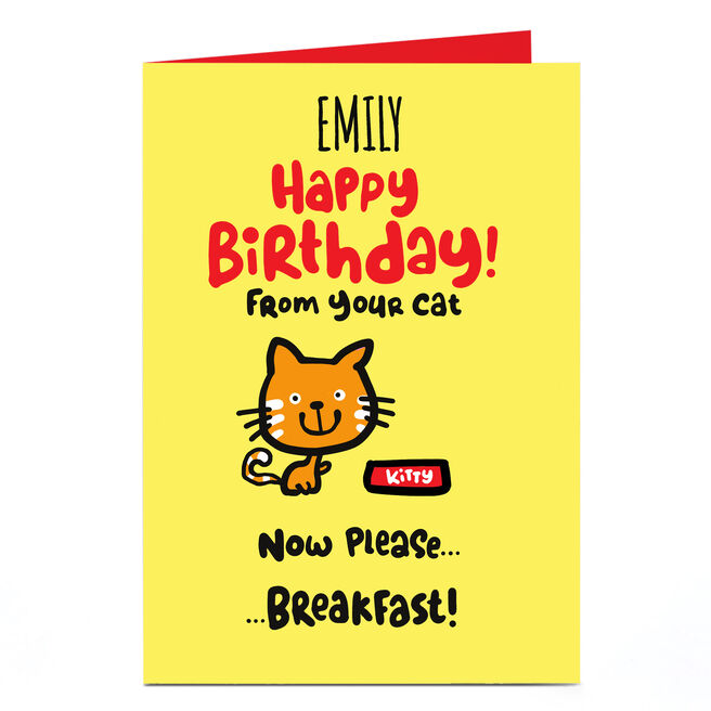 Personalised Fruitloops Birthday Card - From Your Cat