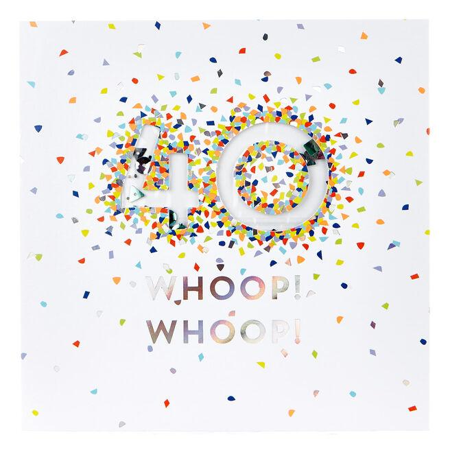 VIP Collection 40th Birthday Card - Neon Confetti