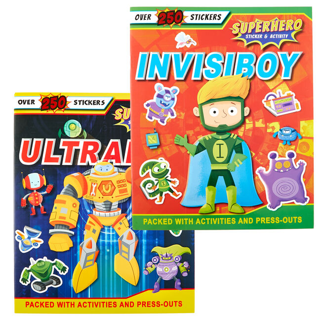 Superhero Sticker & Activity Books - Set Of 2
