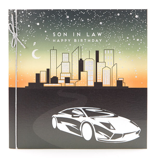VIP Collection Birthday Card - Son In Law, Supercar