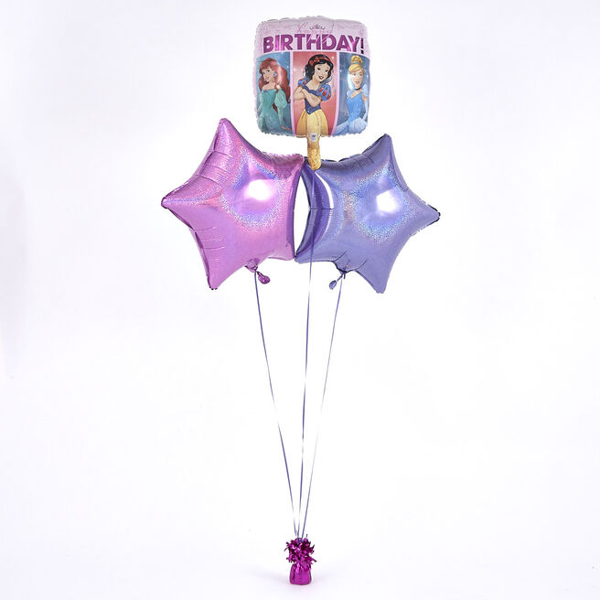 Disney Princess Pink Balloon Bouquet - DELIVERED INFLATED!