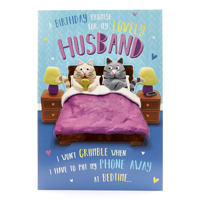 Signature Collection Birthday Card - Husband Cats